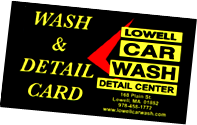 Lowell Car Wash and Detail Card